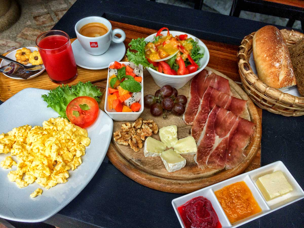 Mediterranean Breakfast at Secret Garden Beach Resort