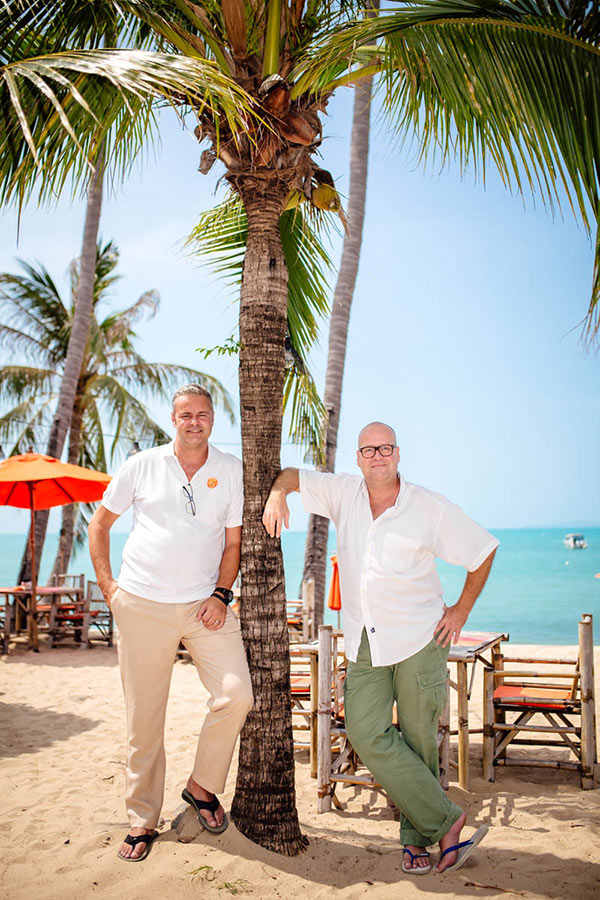 Rik and John, Owners at Secret Garden Beach Resort