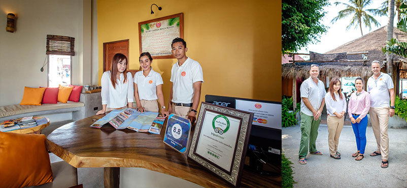 The Reception Team at Secret Garden Beach Resort
